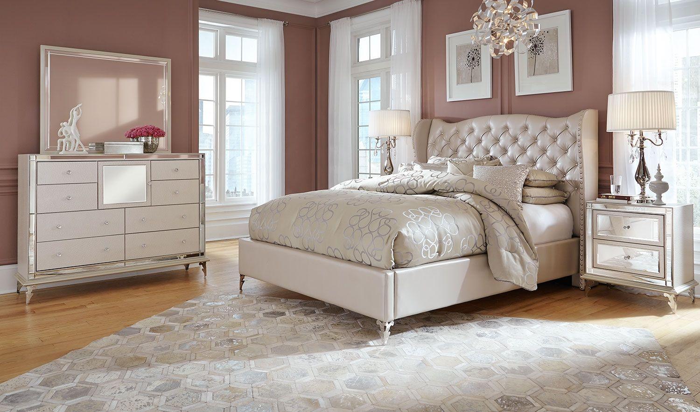 Best Hollywood 5 Pc Queen Bedroom Set Leon S King Bedroom 400 x 300