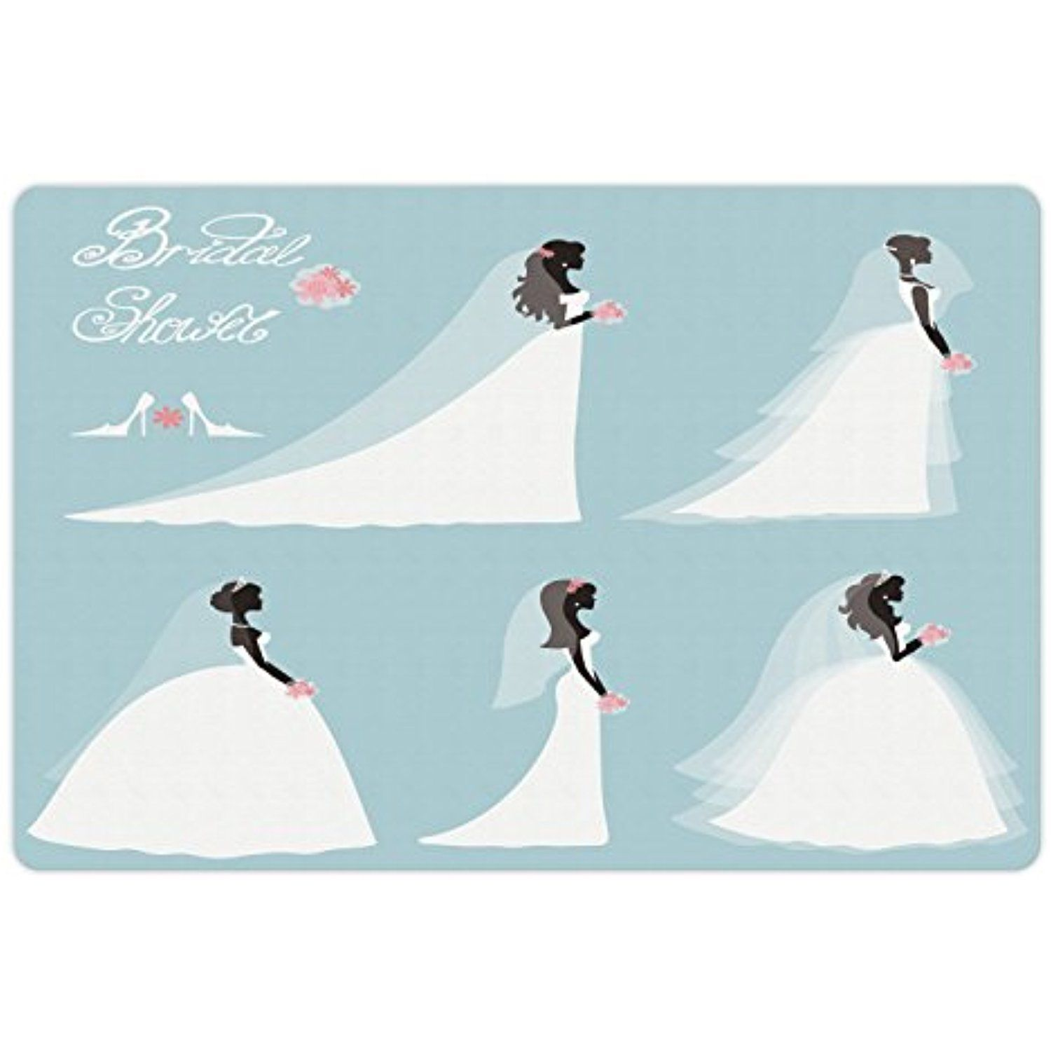 Bridal Shower Pet Mats for Food and Water by Ambesonne, Fashion ...