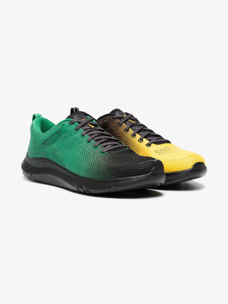 83bc80f412f3ed Hoka One One Green and yellow Hupana 2 x Engineered Garments sneakers. Find  this Pin and more on Men s Shoes ...