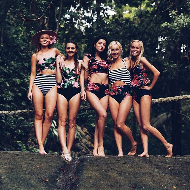 Friends that wear Albion together, stay together. These cute girls are so so special to us here at Albion. From left to right they wear our {The Island Hopper One Piece, Izabal Peplum Tankini   Black Hipster Bikini Bottoms, Antigua Crop Top   Antigua High Waisted Bottoms, The Cabana One Piece  our Antigua Peplum Tankini Top   Antigua High Waisted Bottoms} Hailey Jones Makenna Alyse || Albion Fit