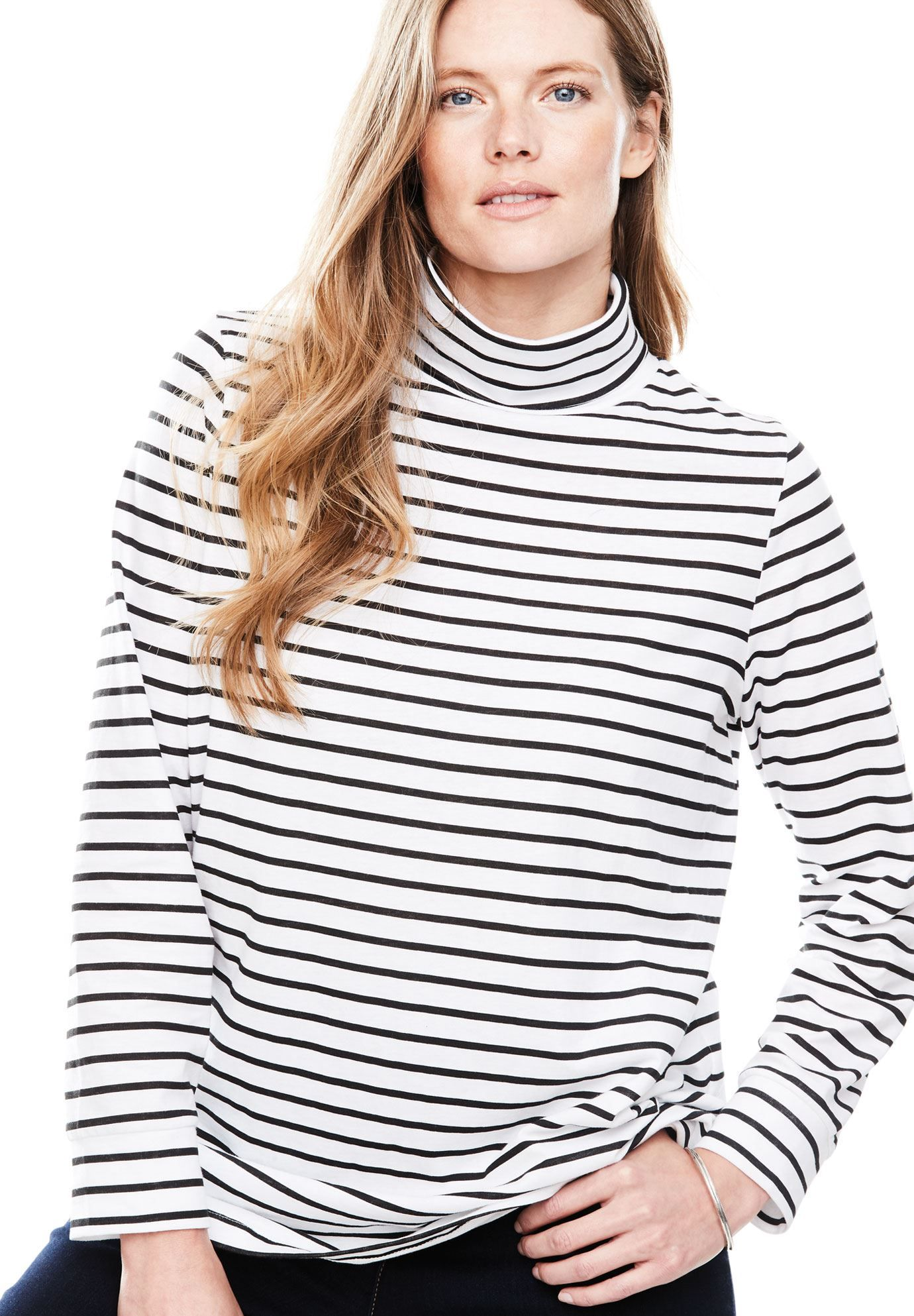 478ef40a143b Perfect turtleneck print tee - Women's Plus Size Clothing | Products ...