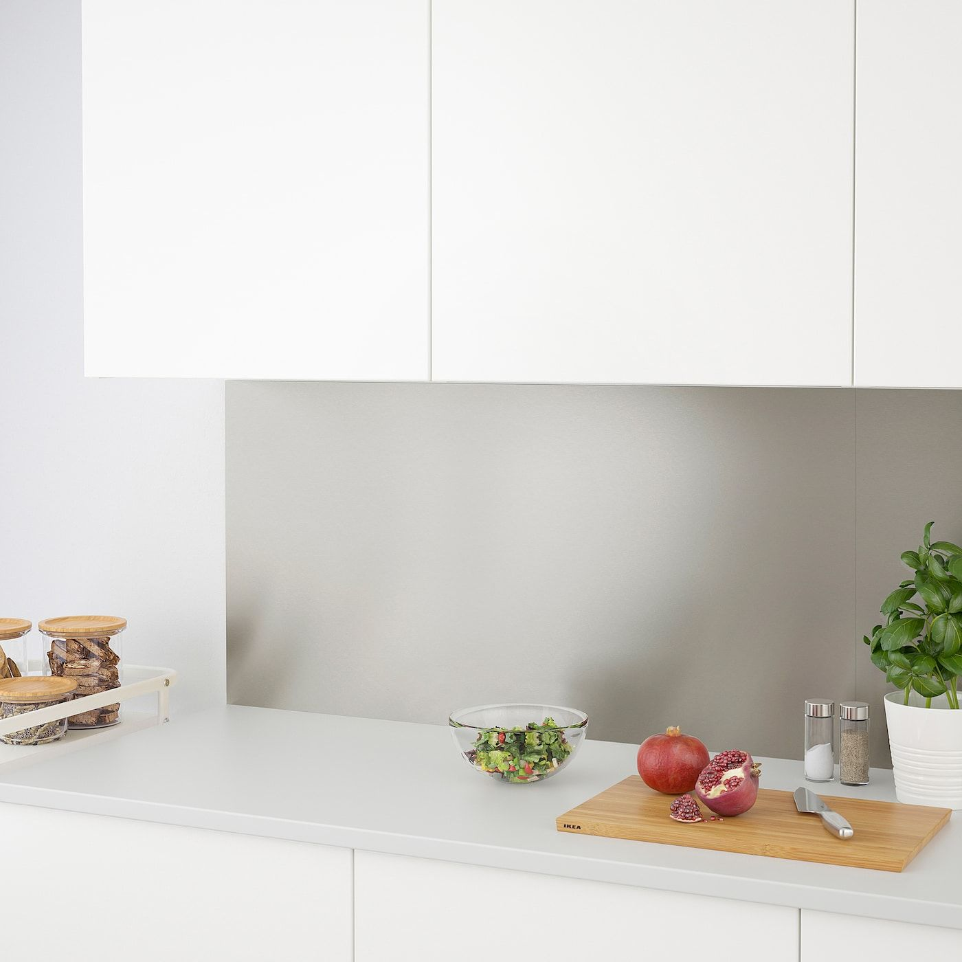 - LYSEKIL Wall Panel - Double Sided Brass Color, Stainless Steel