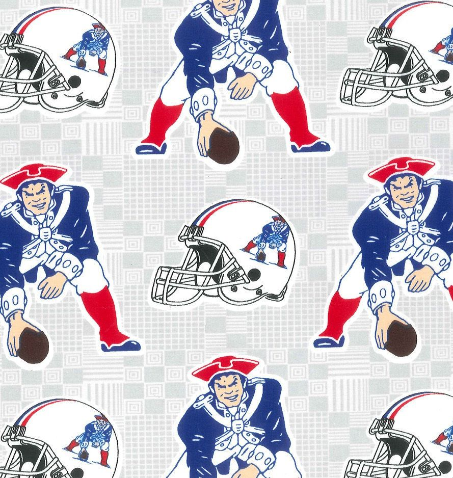 Nfl New England Patriots Retro Print Football 100 Cotton Fabric Material By The Nfl New England Patriots New England Patriots Merchandise New England Patriots
