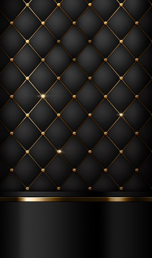 Black Quilted Wallpaper Black and gold ...