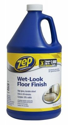 Zep Commercial Wet Look Floor Polish 128 Oz Carpet Shampoo