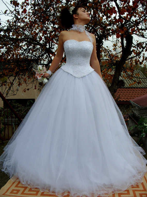 Wedding Gown Princess Wedding Dress Bridal Dress White