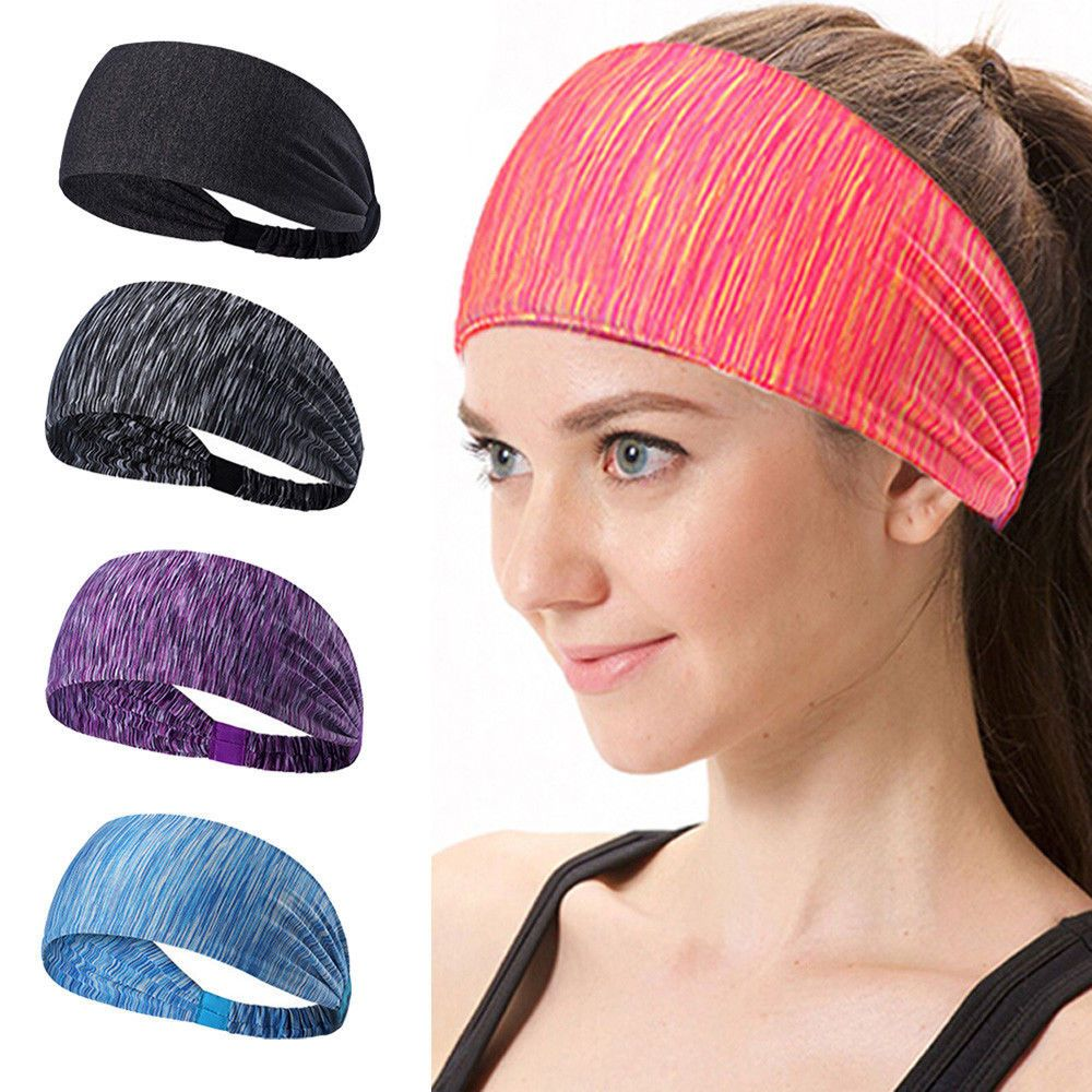 362ca83ac1c Fashion Womens Cotton Knotted Turban Head Warp Wide Elastic Headband Sport  Yoga