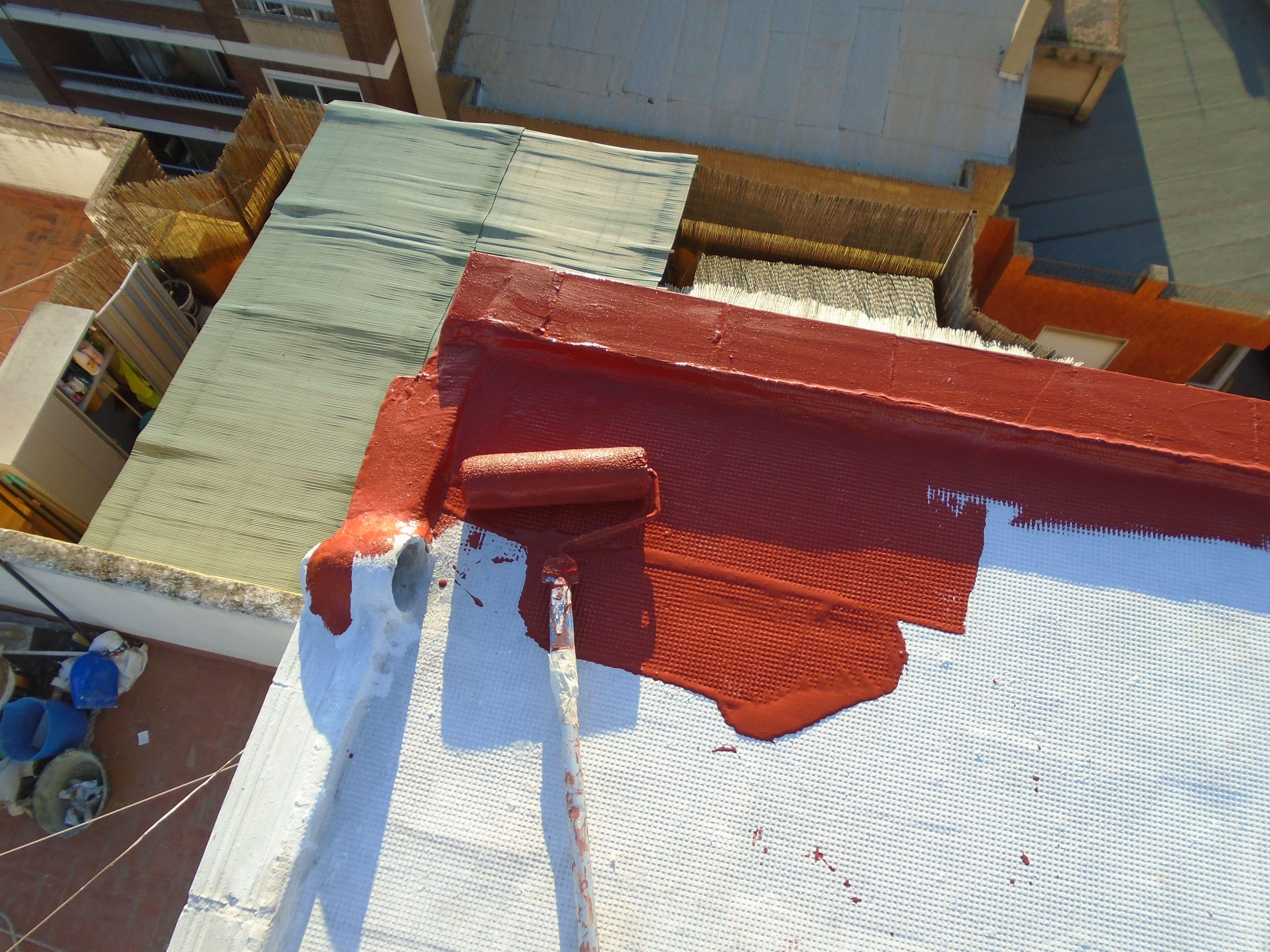 Impermeabilizacion De Terrazas En Valencia Mediante Trabajos Verticales Www Solvertvalencia Com En 2020 Terrazas Tela Asfaltica Pintura Impermeabilizante