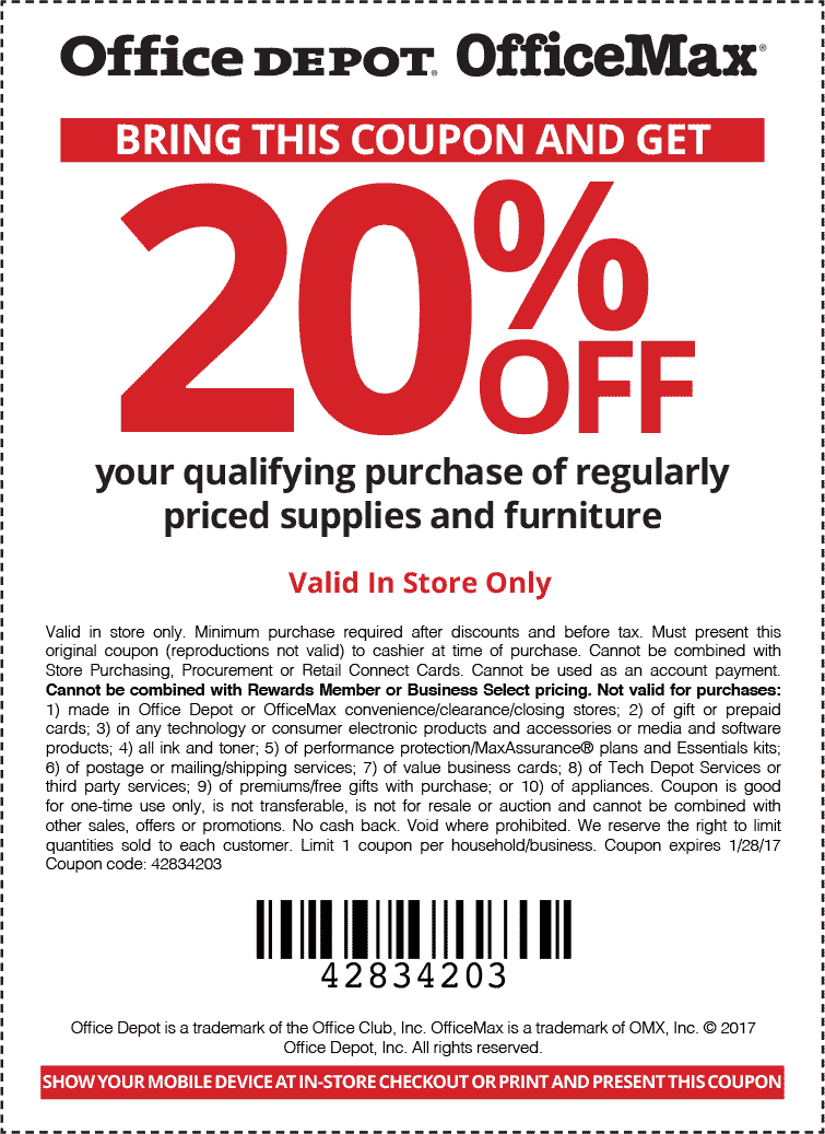 Pinned january 28th 20 off today at officedepot officemax thecouponsapp the coupons app - Office depot discount code ...