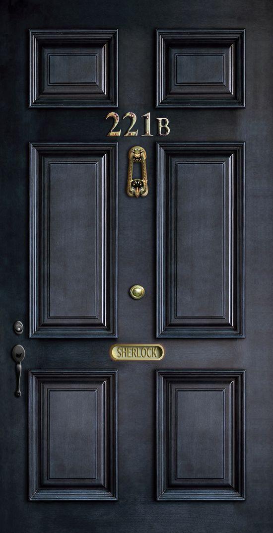 Classic Old Sherlock Holmes 221b door by Three Second & Classic Old Sherlock Holmes 221b door by Three Second   unPDD ... pezcame.com