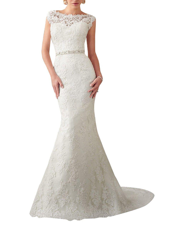 Silver wedding dresses plus size  MIGUOO Trumpet Any SizeColor  Fashion Wedding Dresses Bridal