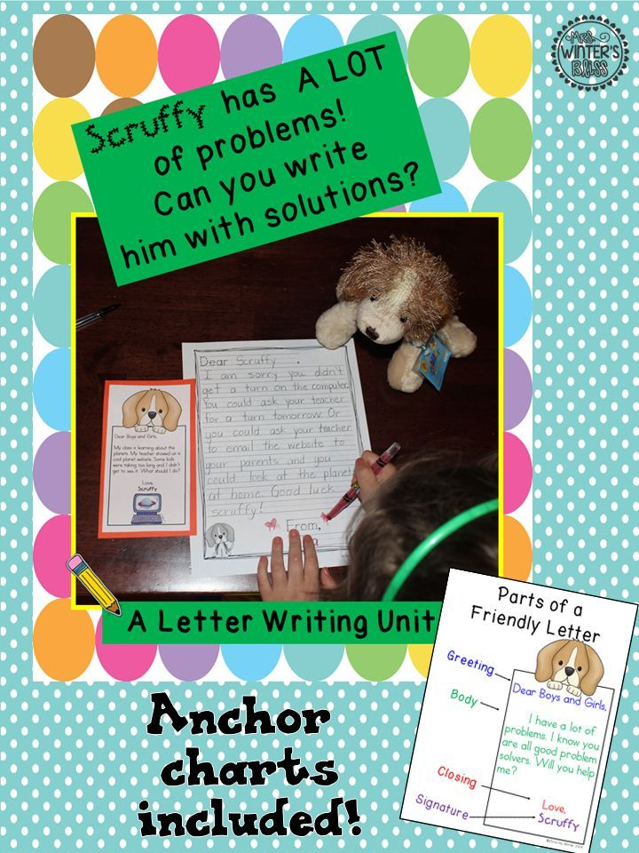 Your students will love writing to Scruffy! This engaging pack teaches friendly letter writing while working on problem solving skills.
