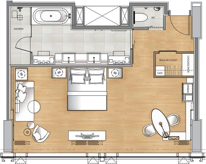 Luxury hotel suite floor plan google search floorplans for Hotel suite design