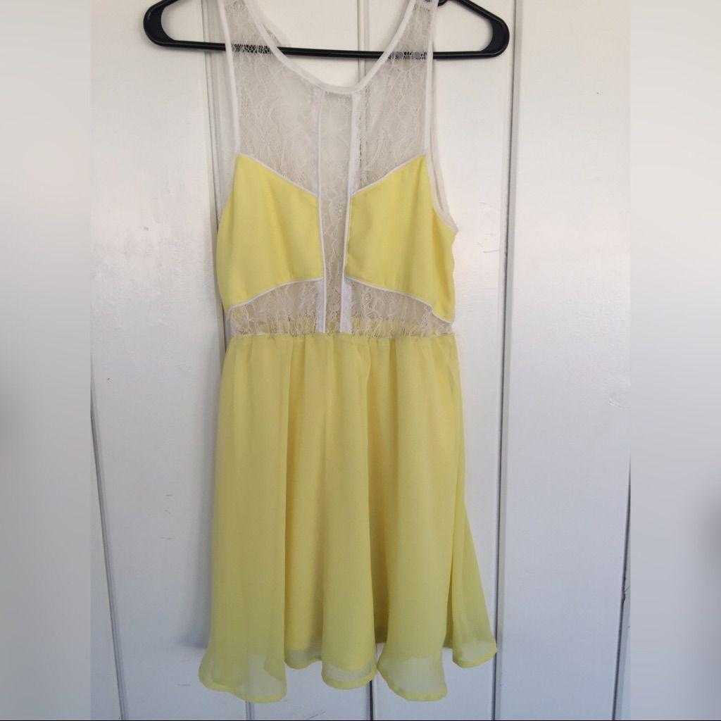 Lush yellow dress size m yellow dress lush and products