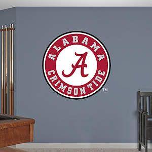 Shop College Wall Decals Murals Fathead Ncaa Graphics Alabama Crimson Tide Logo Crimson Tide Alabama Crimson Tide