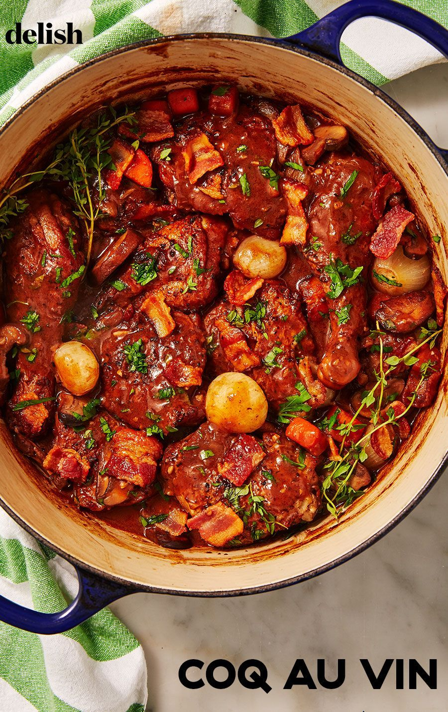Coq Au Vin Will Make You Feel Like Julia Child Recipe In 2020 Easy French Recipes Easy Skillet Dinner Recipes