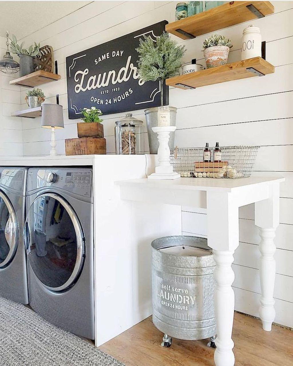20 Modern Farmhouse Laundry Room Ideas   Gladecor.com   Rustic ...