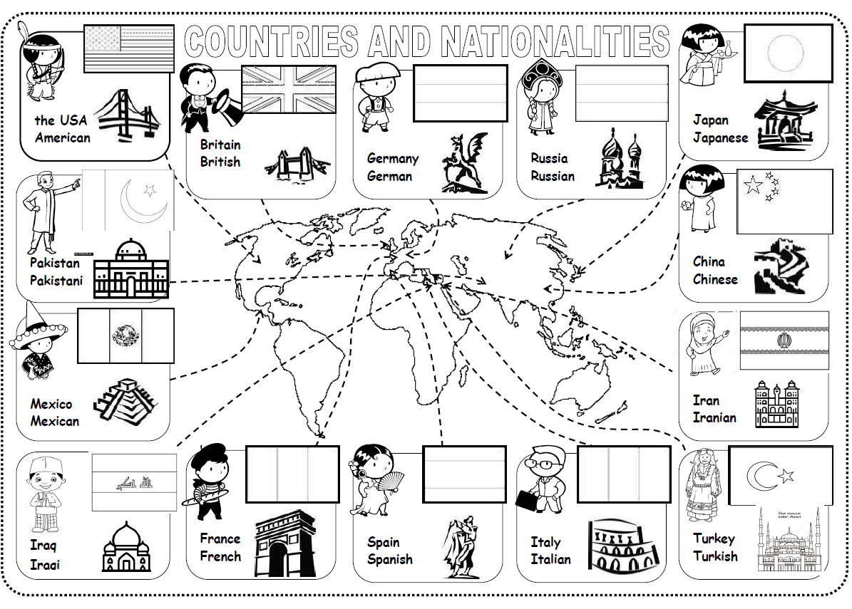 Countries Nationalities Worksheet