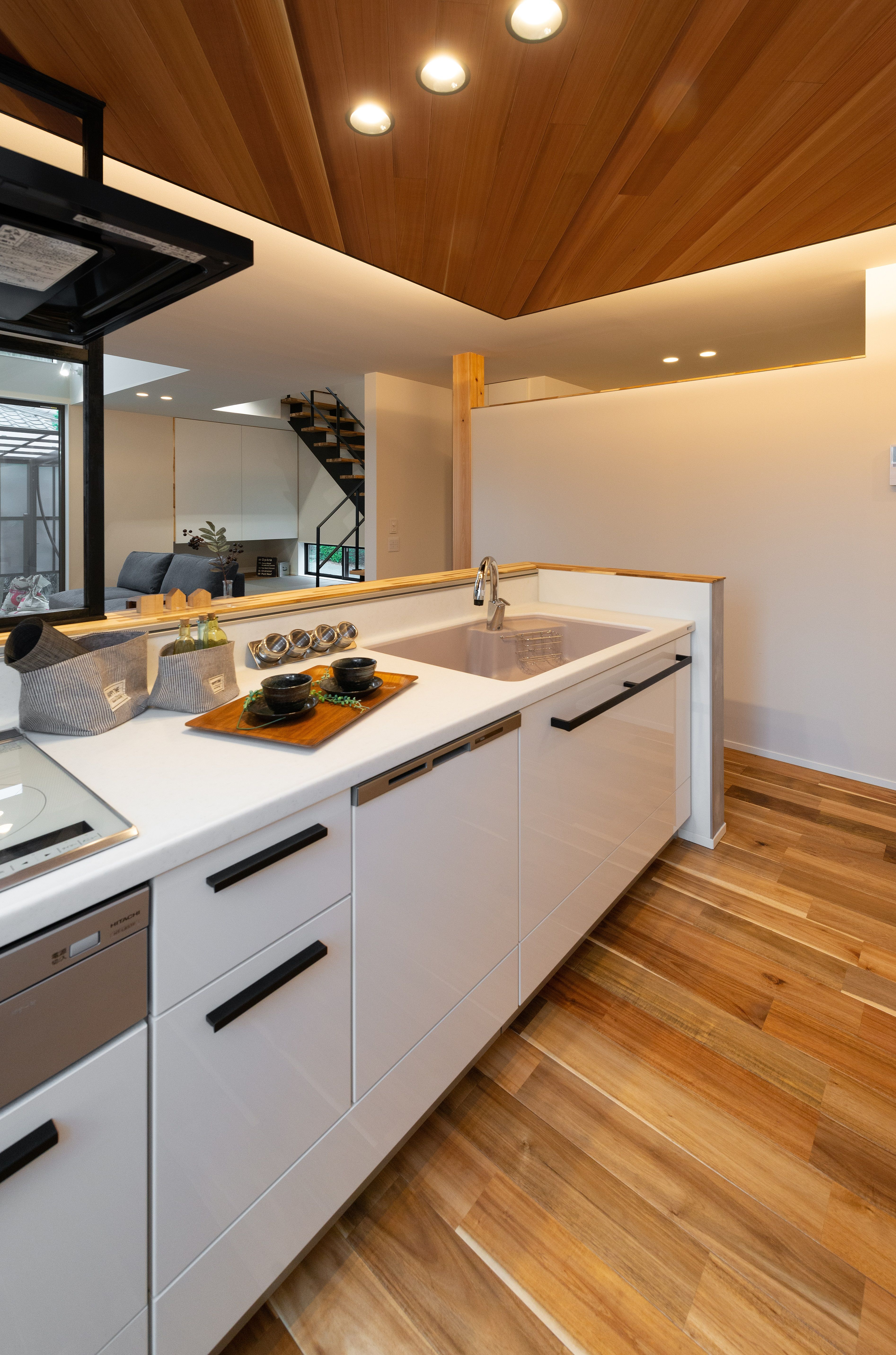 私のこだわりキッチン リビング キッチン キッチンデザイン レッド