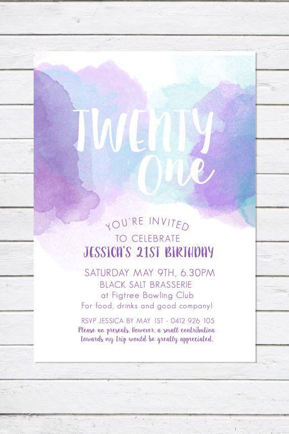 21st birthday invitation twenty one