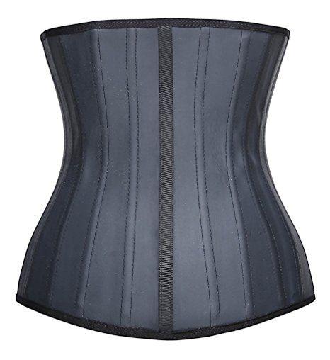 34675b2cf7 YIANNA Women s Underbust Latex Sport Girdle Waist Training Corset Waist  Body Shaper at Amazon Women s Clothing store
