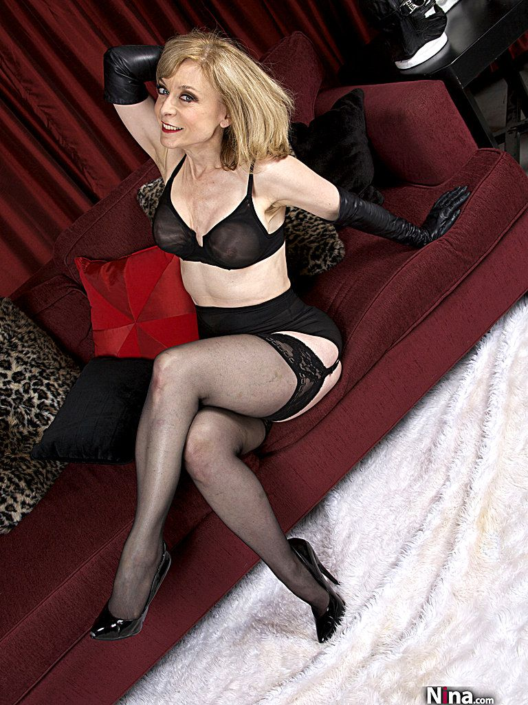 blonde stockings hartley nina black Mature