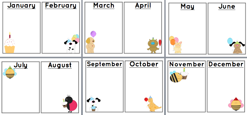 Birthday Calendar Ideas For Work : Sunshine and teaching free printable birthday chart