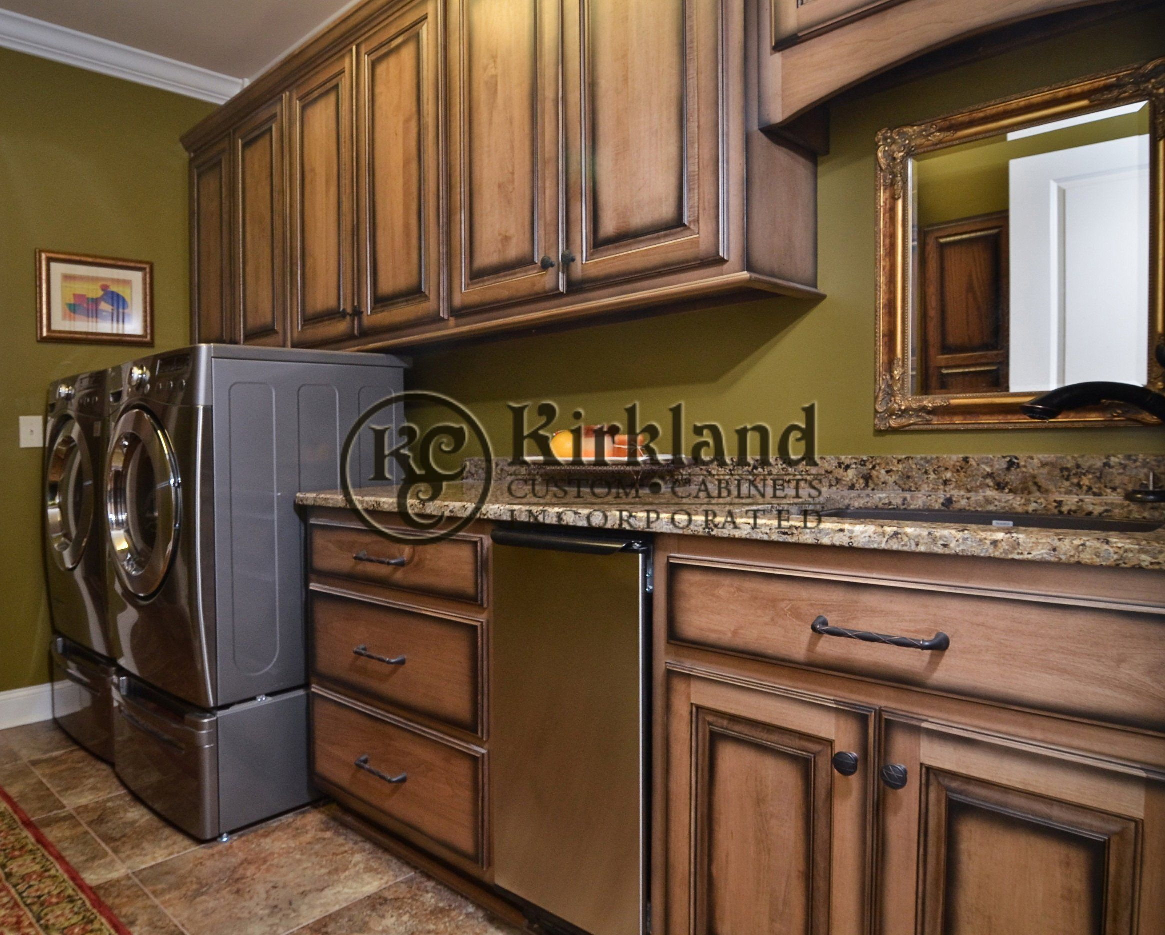 Laundry Room Cabinets Maple Wood With Coffee Stain And Black Glazing With Shading And D Kitchen Cabinet Styles Stained Kitchen Cabinets Glazed Kitchen Cabinets
