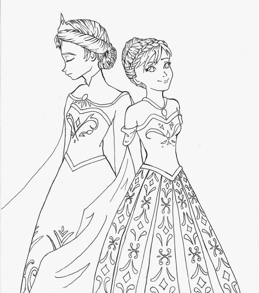 Frozen Elsa And Anna Frozen Coloring Pages Frozen Coloring Elsa Coloring Pages