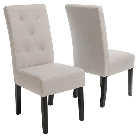 Nice Taylor Natural Fabric Dining Chairs   Natural Plain (Set Of 2)   Christopher  Knight Home