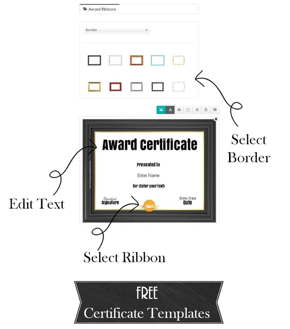 Free Custom Certificate Templates Instant Download in