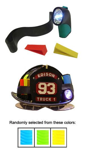 Firefighting professionals shop for helmets, flashlights