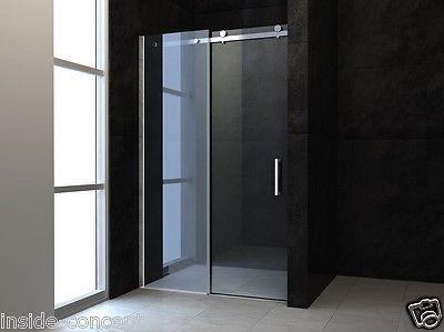 details zu echt glas rahmenlose nischent r dusche duschabtrennung mit schiebet r sc009 neu. Black Bedroom Furniture Sets. Home Design Ideas