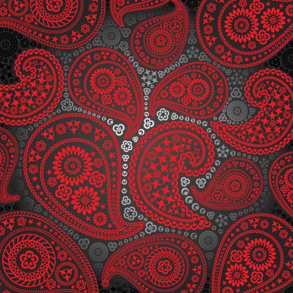 Red And Black Paisley Pattern Paisley Pattern Paisley Wallpaper