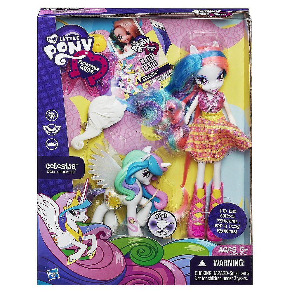 Nib My Little Pony Equestria Girls Celestia Doll And Pony Gift Set Hasbro Dollandponygiftset My Little Pony Dolls My Little Pony Collection My Little Pony