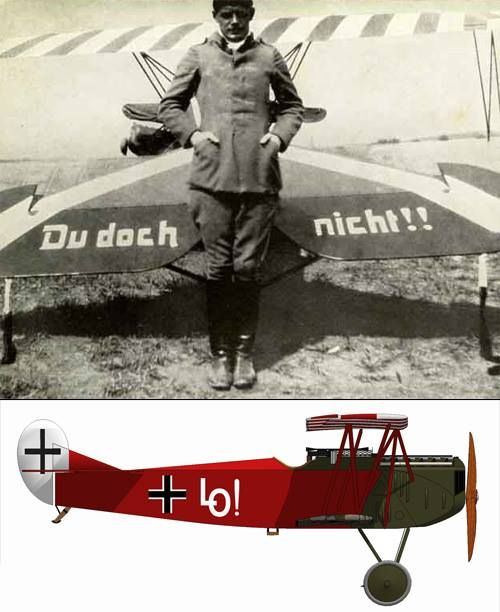 Ernst Udet and his Foker Dr. VII.