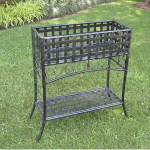 Ici Wrought Iron Rectangular Planter With Images Wrought Iron