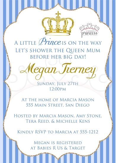 Little Prince Printable Baby Shower Invitation Printable baby - printable baby shower invite