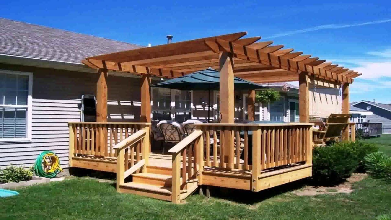 How To Build A Floating Deck With Pergola - YouTube ...