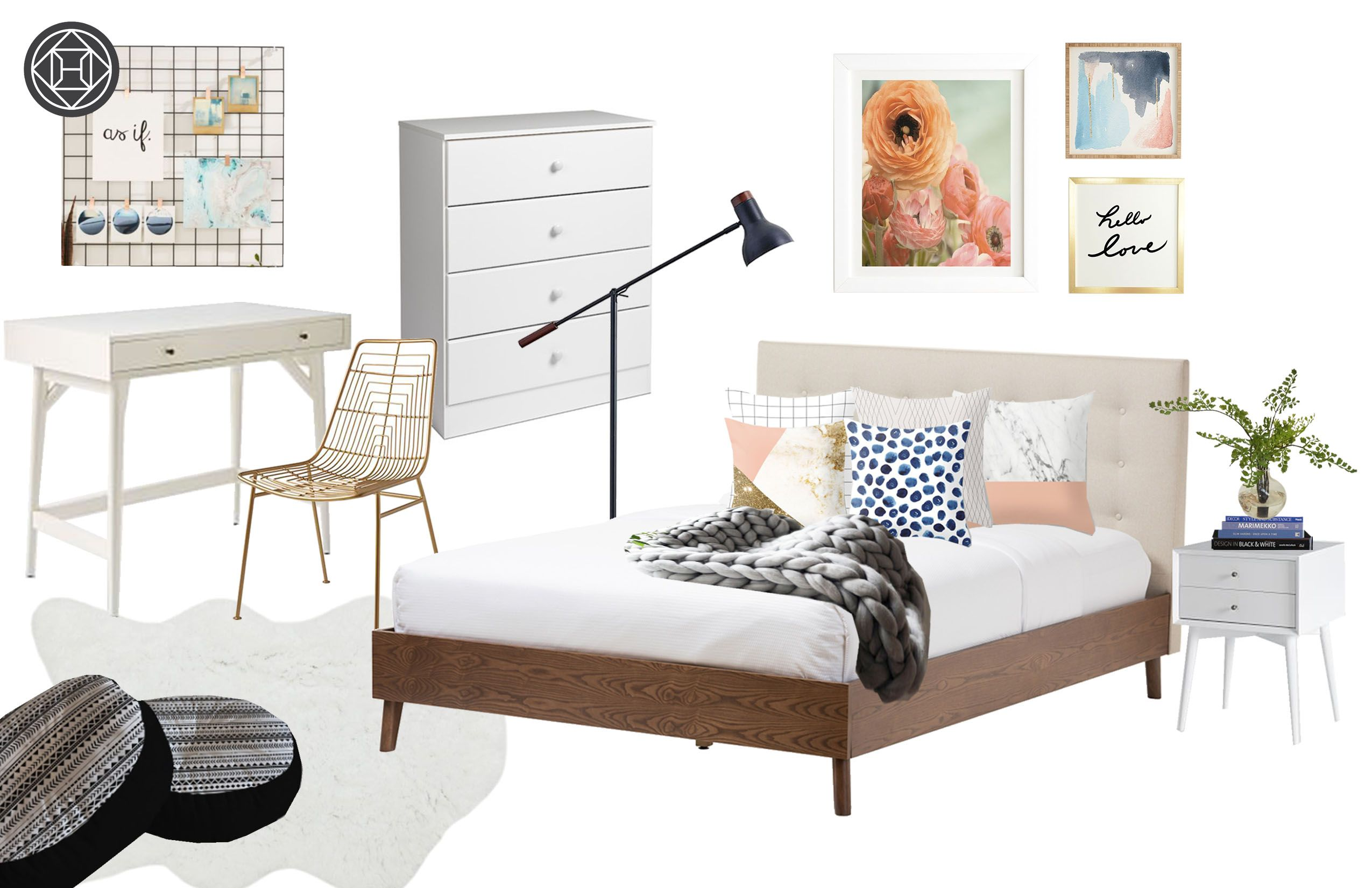 Preppy, And Scandinavian Bedroom By Havenly