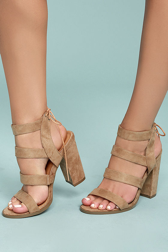3e55d4de037fb Let the Sydney Beige Suede High Heel Sandals take you as far as you can go
