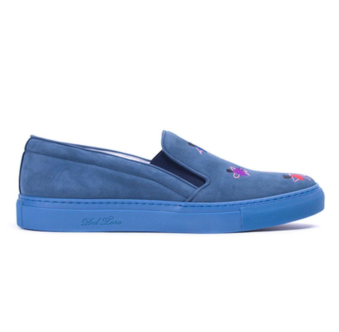 DEL TORO Blue Señorita Slip On Sneaker. #deltoro #shoes #