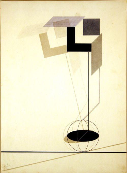 El Lissitzky-구성주의 평면 작품이지만, 면들이 공간을 구성하고 있는 것이 흥미롭다. 이미 3차원의 특징들을 가지고 있기 때문에 입체로 만들 때 새로운 느낌을 내기가 힘들 것 같다는 생각은 들지만, 도전해 보고 싶은 작품이다.