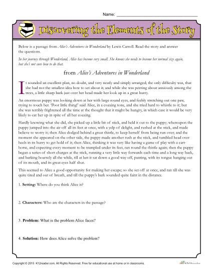 Worksheets Identifying Story Elements Worksheet story elements worksheet problem and solution discovering the of story