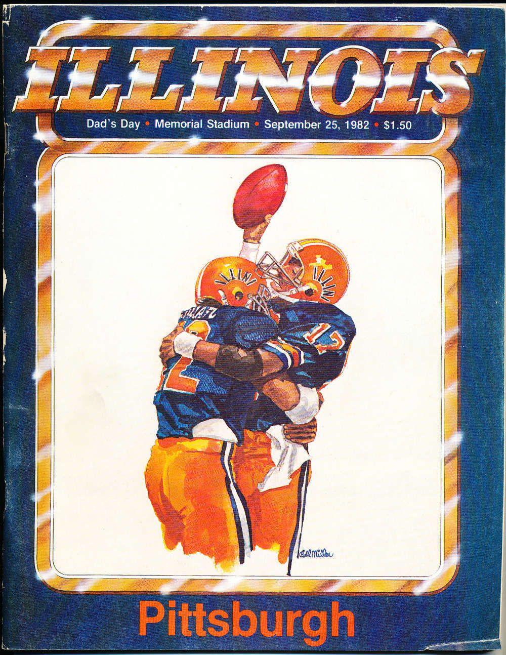 Sept 25 1982 Illinois Pittsburgh Football Program CFBbx9