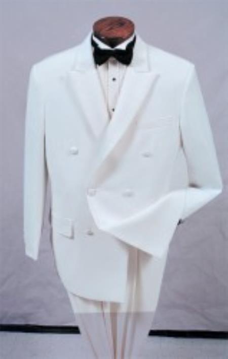 Double Breasted Dresses Suits Peak Lapel Men/'s White Formal Wedding Groom Tuxedo