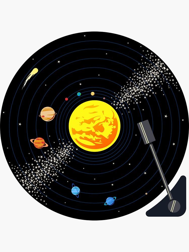 Solar System Vinyl Record Sticker By Jezkemp Record Wall Art Record Art Vinyl Art Paint