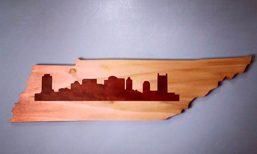 State with Skyline Inlay