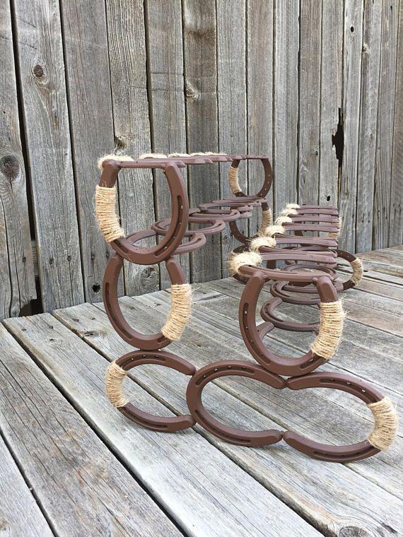 Horseshoe Boot Rack Southern Decor Art