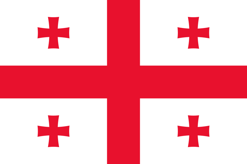 National Flag Of Georgia From Http Www Flagsinformation Com Georgian Country Flag Html White Rectangle In Georgia Flag Georgia Country Flags Of The World